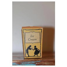 3 in.Paper Ice Cream Box for Vintage  Dolls