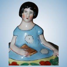 Deco Flapper Powder Jar Half Doll Related