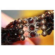 Woven Garnet Bracelet Beautiful!