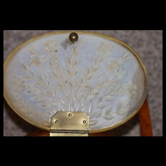 Carved w/Bees, Flowers Lucite Bee Hive Purse