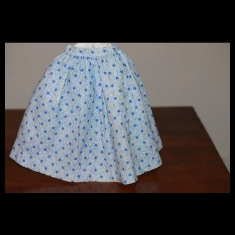 Early Skirt w/Hidden Pocket for China, Cloth Doll