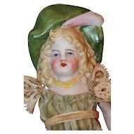 5 in. Hatted Bisque Doll