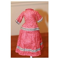 1870s Calico Dress Beautiful!