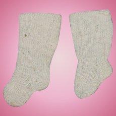 Antique Hand Knit Wool Socks