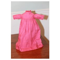 Early 1900s Dress for China, Cloth Doll