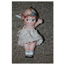 Painted Shoes, Thick Lashes Antique Kewpie