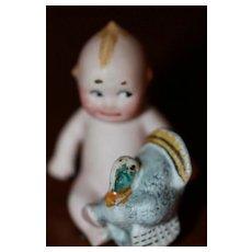 Antique Kewpie w/Turkey Miniature