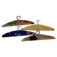 4 Wood  Papered Hangers