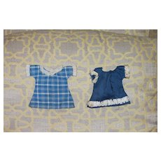 2 Doll Dresses Googly Size