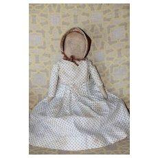Graphite Face Antique Cloth Doll