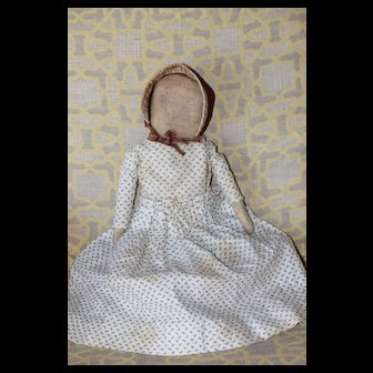 Graphite Face Antique Cloth Doll