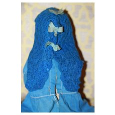 1860s Crocheted Capelet Bonnet Cloth, China Doll