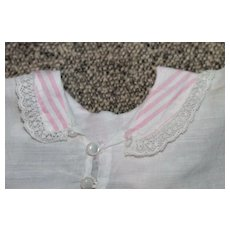 Antique Pink Trim Blouse for Bisque Doll