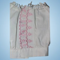 Antique Pink/White Camisole Bisque Doll