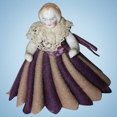 1860s Pen Wipe Bisque Doll