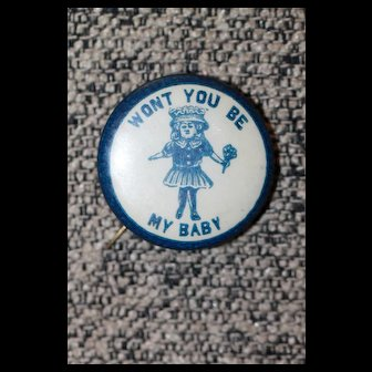"""Doll Pin: """"Won't You Be  My Baby"""""""