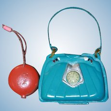 Purses  Clock Face Celluloid w/Mirror