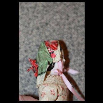 Antique Silk Bonnet Smaller Doll