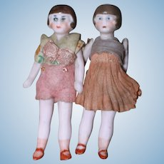 Three In. Flapper Dolls German Dollhouse