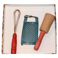 1940s-50s Kitchen Accessories for Doll