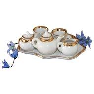HTF Miniature Fancy Trim Tea Set for China, Bisque Doll