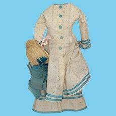 Lg. French Fashion/Sm Bebe Dress, Hat