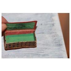 Fancy Miniature Box Antique for Mignonette, French Fashion Doll