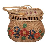 Sm.Antique Doll Basket Great Condition French fashion, China Doll