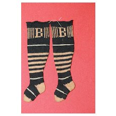 SM. Antique Knit Doll Stockings
