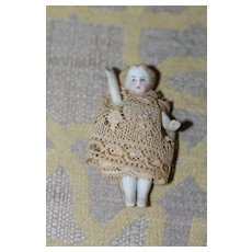 AO 1860s-70s Bisque Dollhouse Doll
