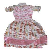 Antique Silk Dress Bisque China Doll