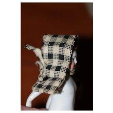 Small Antique Bonnet China, Bisque Frozen Charlotte Doll