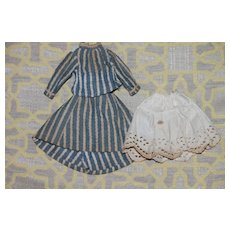 1860s 3 Piece Dress SM China Doll