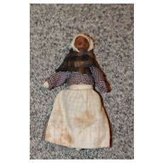 1850s Rolled Legs,Arms Cloth Doll