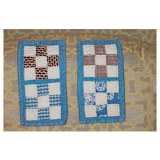 2 Small Quilts 1930s-40s Hand Quilted