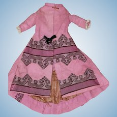 1860 Wool Fashion Coat For Bisque, China Doll