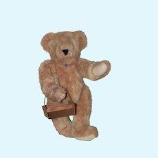 Berry Basket for Teddy Bear, Cloth Doll