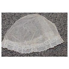 Antique Tulle Mob Cap for Bisque Doll