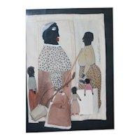 Black Americana Folk Art Paper Dolls