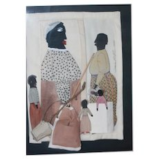 Black Americana Folk Art Paper Dolls