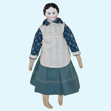 1860s China Doll Brown Glass Eyes