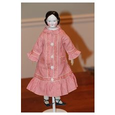 1850s Original Body Covered Wagon Antique China Doll