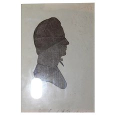 Signed Hollow Cut Antique Silhouette