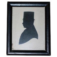 Antique Silhouette W/Provenance 1845