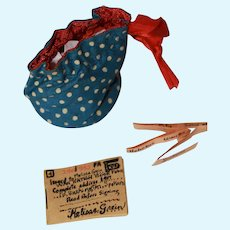 WWII HM Doll Ration Book, Purse, Secrets