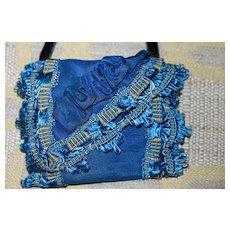 Sm Antique Purse Bisque, China, Cloth Doll Accessory