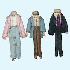 Early Wood Clothespin Dolls 1860-80