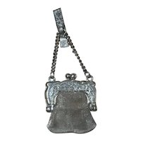 Antique Miniature Chatelaine Purse for French Fashion China Doll