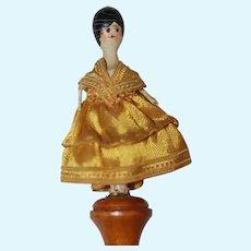 Antique Miniature Wood Doll Marrotte   RARE!