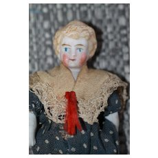 Antique Doll House Doll Bisque A/O
